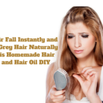 Stop Hair Fall Instantly and Reduce Grey Hair Naturally with this Homemade Hair Mask and Hair Oil: DIY