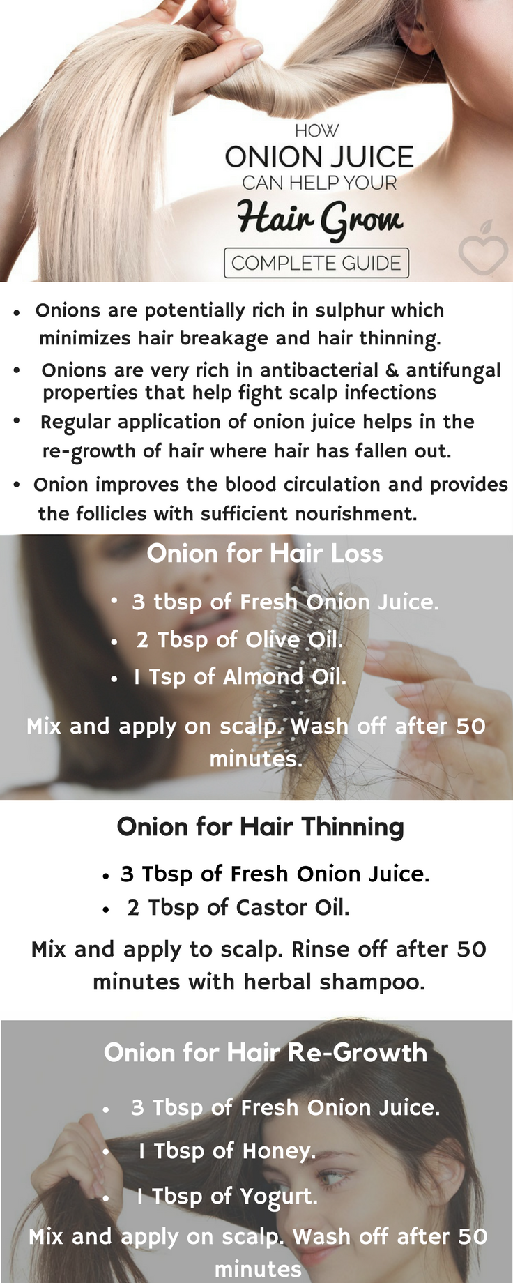 Onion for Hair Loss, Hair Thinning and Hair Re-Growth