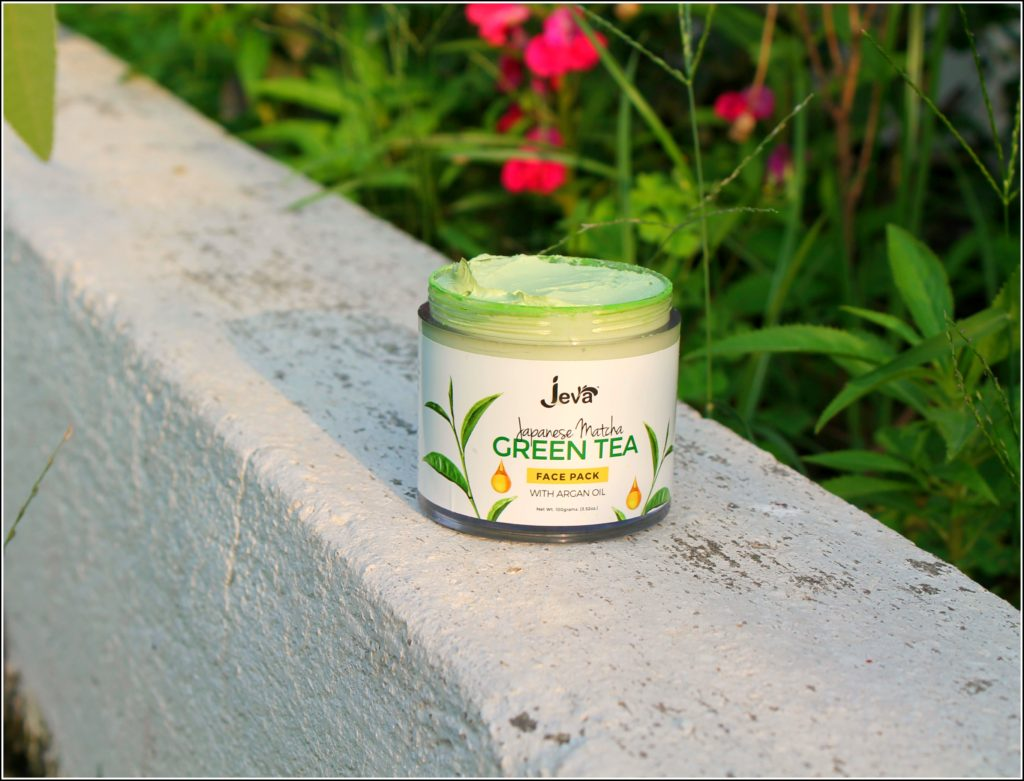 Jeva Japanese Matcha Green Tea Face Pack with Argan Oil Review