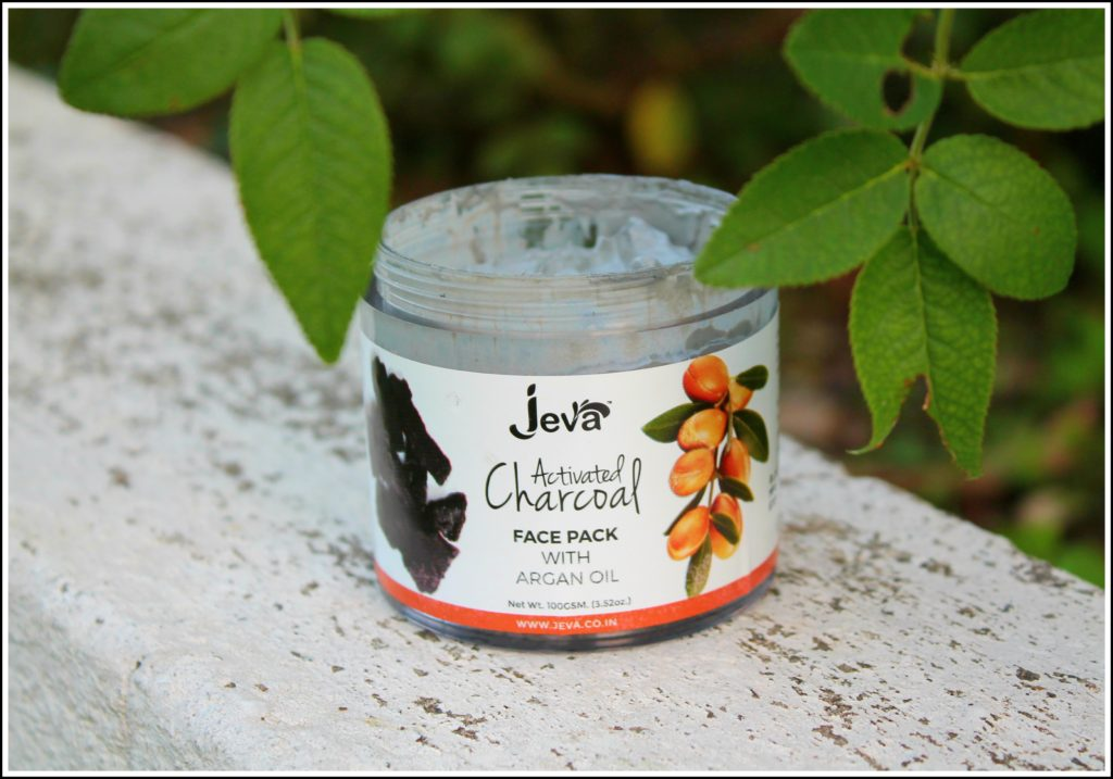Jeva Activated Charcoal Face Pack With Argan Oil Review